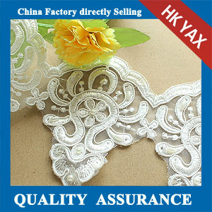 new design water soluble lace trimming