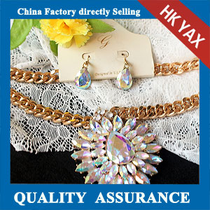 N163 Ab stone necklace china factory manufacturer