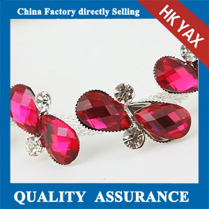 M208 Rose Metal trim crystal accessory