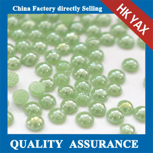 Green hotfix pearl,hot-fix ceramic rhinestone