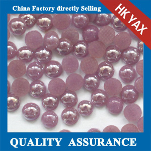 Half round ceramic rhinestone for garments