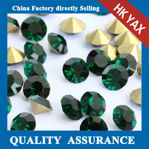 China wholesale Emerald point back crystal