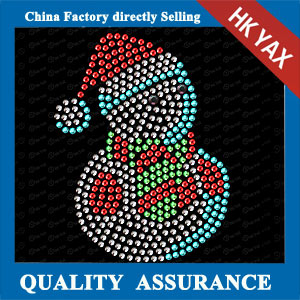 YAXS-24 Christams Snowman motif hot fix