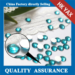 Blue Zircon flat back crystal stone wholesale