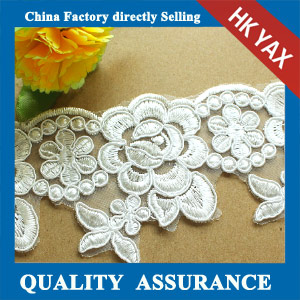 2014 new fashion lace fabric trimming wholesale