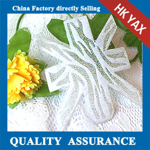YAX-C053 crystal hot fix rhinestone patch