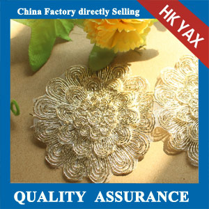 water soluble flower design lace trim