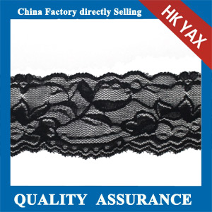YAXL 28536 black narrow lace trim
