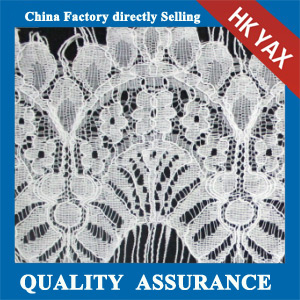 YAXL 23080 white lace fabric fashion design