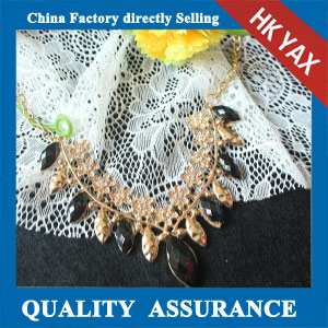 N116 black resin stone necklace in china factory