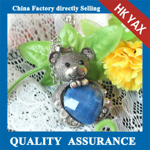 N117 metal bear pendant necklace china wholesale