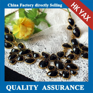 N139 Black beaded necklace for party made in china