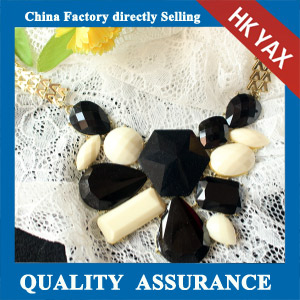 N146 stone white and black necklace china supply