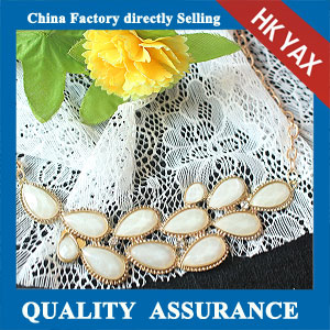 N127 white beaded necklace for lady china supply