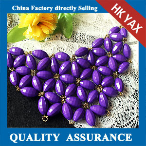 N149 Charm purple flower necklace produce in china