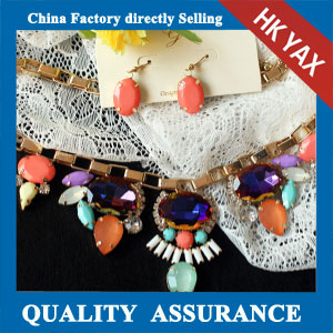 N159 multicolor rhinestone necklace set china sale