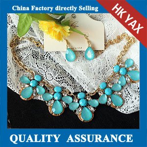 N160 Sea blue necklace set china wholesale factory