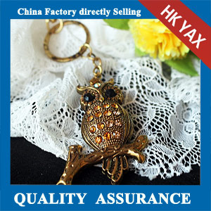 N182 china Resin rhinestone owl pendant cheap sale
