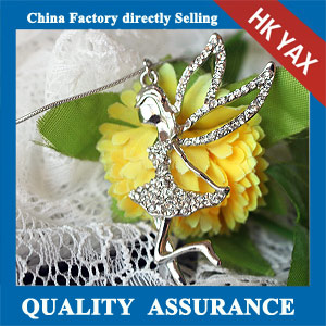 N184 china rhinestone girl pendange necklace sale