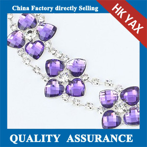 M204 Purple crystal rhinestone chain
