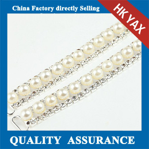 M403 rhinestone pearl trimming for shoes