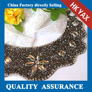 YAX-D013 Wave Shape Rhinestone Patches