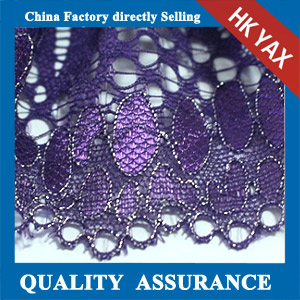 YAXL 37579 high quality purple lace trime