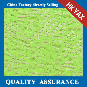 YAXL 35123 fluorescent green lace fabric