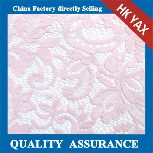 YAXL 35132 environmental friendly pink lace fabric