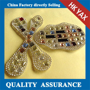 Yax-B001 New fashion rhinestone patches