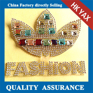 Yax-B012 China low price rhinestone patches