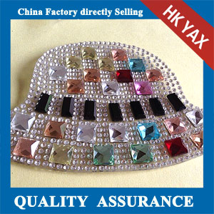 Yax-B021 china factory fashion rhinestone patches
