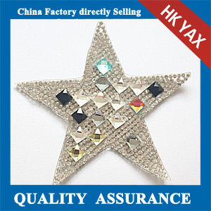Yax-C003 Star shpae rhinestone patches