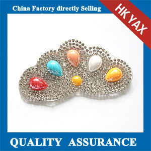 Yax-C015 Double flowers shape rhinestone patches