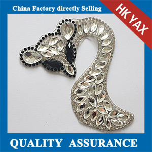 Yax-C016 Fox shape rhinestone patches