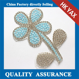 Yax-C017 Flower shape rhinestone patches