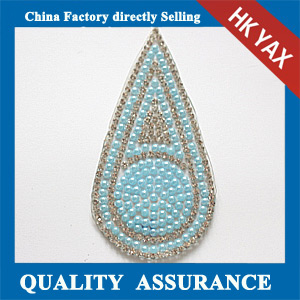 Yax-C018 Teardrop shape rhinestone patches