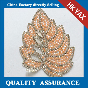 Yax-C021 leaf shape rhinestone patches