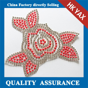 Yax-C022 Flower shape rhinestone patches