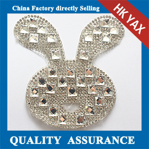 Yax-C024 Rabbit head shape rhinestone patches