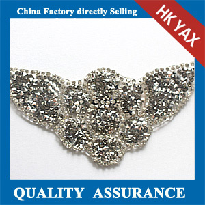 Yax-C025 shoes ornament shape rhinestone patches