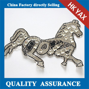 Yax-C026 Horse shape rhinestone patches