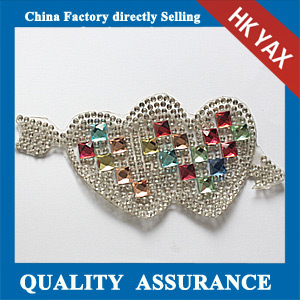 Yax-C027 Arrow and heart shape rhinestone patches