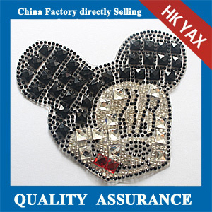 Yax-C013 China factory rhinestone patches