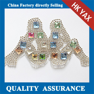 Yax-C028 Back to back shape rhinestone patches