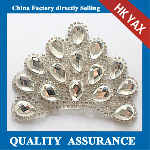 Yax-C029 Crown shape rhinestone patches