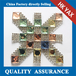 Yax-C030 Rice-based shape rhinestone patches