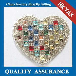 Yax-C032 Heartshape rhinestone patches