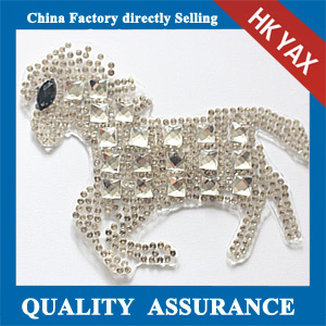 Yax-C033 Horse shape rhinestone patches