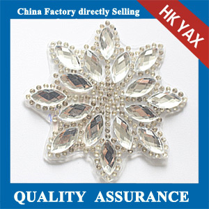Yax-C034 Snow flake shape rhinestone patches